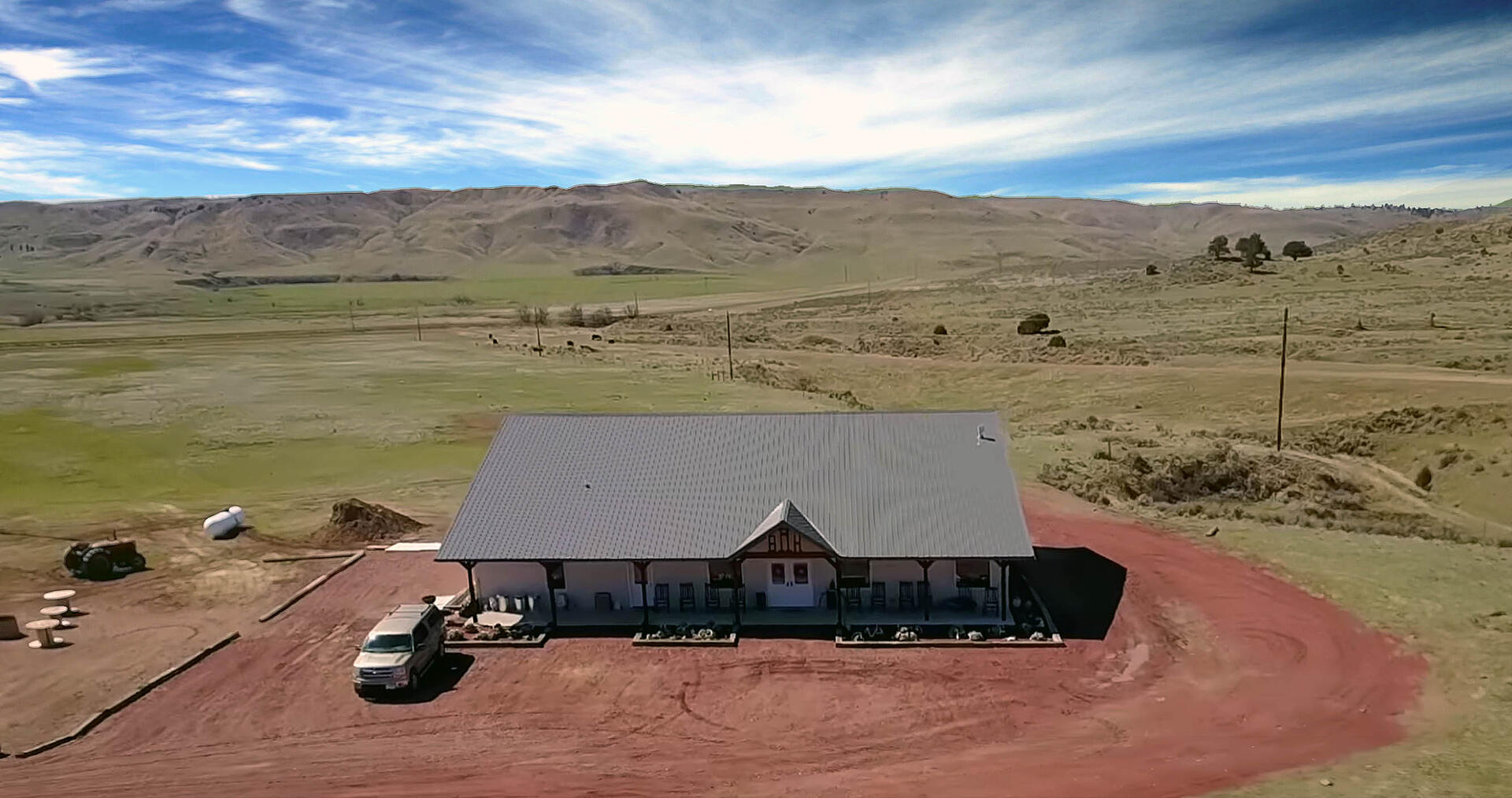 Drone Shot of Outdoor Shooting Range Facility